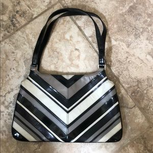 BCBG chevron leather bag